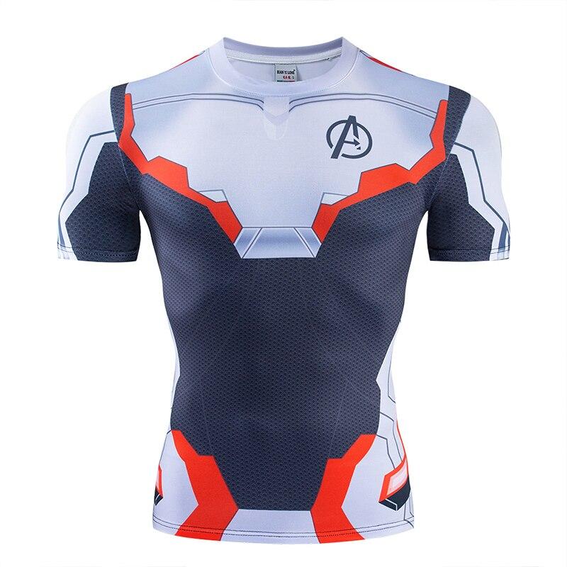 Мстители эндгейм футболка Квантовая царство компрессионная с коротким рукавом для мужчин тренажерный зал Спорт Фитнес окрашенные футболки спортивная одежда для мужчин - Цвет: DX-040