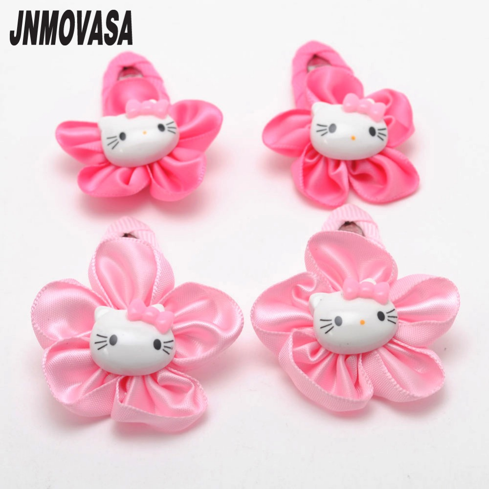 Hair Accessories 2 Pcs Cute Baby Girls Satin Denim Anchors Hair Clip Hairpin For Kids Toddler New