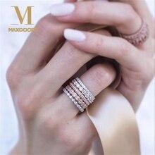5 шт./компл. Винтаж блестящее розовое золото с украшением в виде кристаллов Стразы стекируемые кольца для Для женщин Свадебные украшения