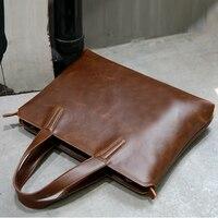 Men S Leather Shoulder Bag For Macbook Pro 13 Men S Business Messenger Bag For Laptop