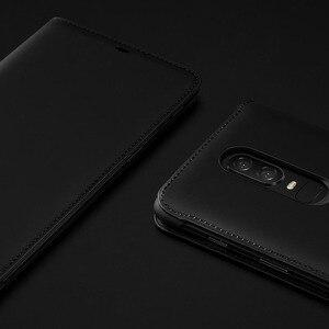 Image 4 - Oneplus 6 T Case Flip Smart Leather Cover Originele Officiële Een Plus 6 6 T Slaap Wake Up Card Slot telefoon Gevallen Oneplus6 Terug Capa