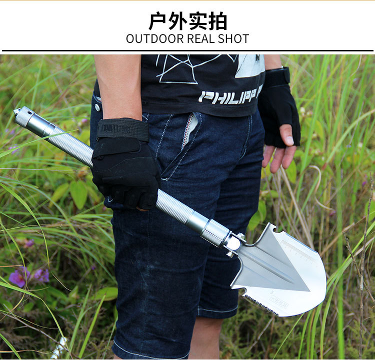 Camping Shovels EDC Hunting  Garden tools Multi functional Military Folding Shovel Outdoor Survival  Aluminium Alloy Handle professional military tactical multifunction shovel outdoor camping survival folding portable spade tool equipment hunting edc
