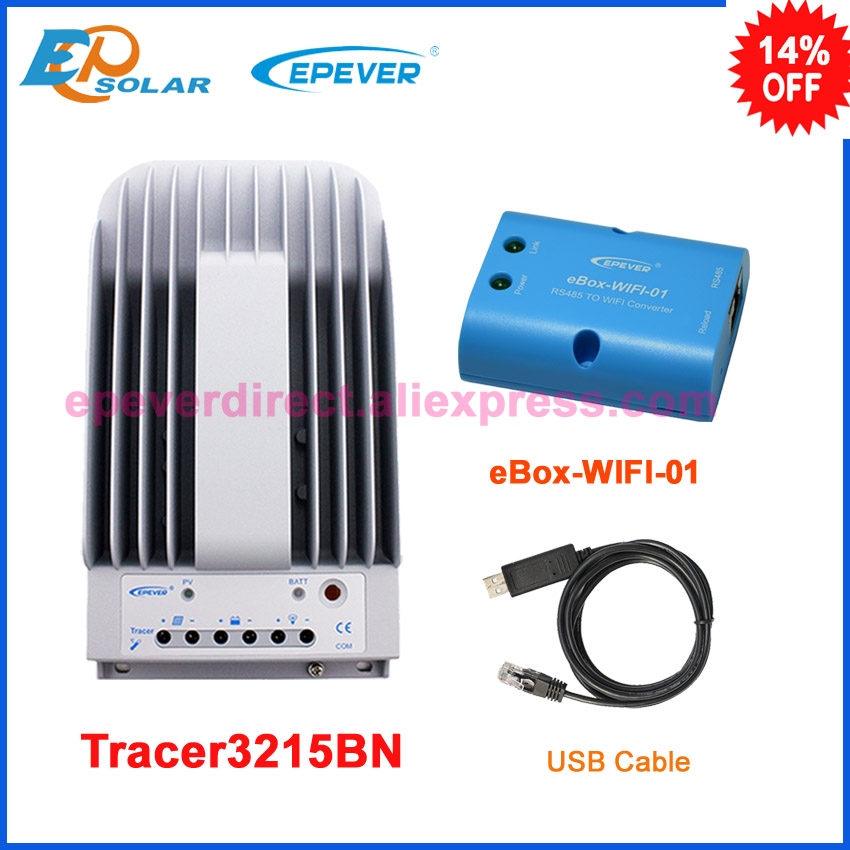 Tracer3215BN+USB cable communication 30A 30amp solar panel controller MPPT 12v 24v auto work EPEVER brandTracer3215BN+USB cable communication 30A 30amp solar panel controller MPPT 12v 24v auto work EPEVER brand