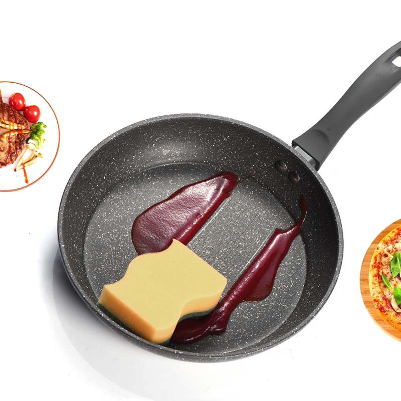 Image 4 - 100% PFOA Free Stone Derived NonStick Frying Pan Coating 5 Layers Bottom Soft Handle Aluminum Dishwasher Safe Cooking Pan Set-in Pans from Home & Garden