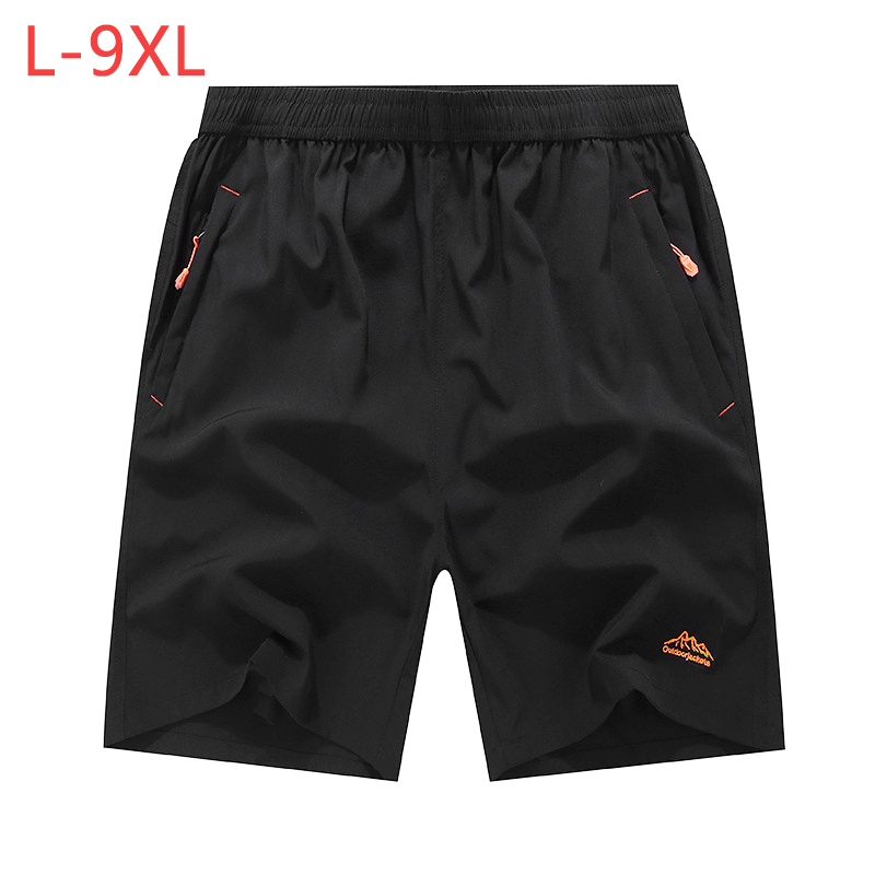 9XL Men Quick Dry Baggy Shorts Summer Male Casual Loose Elastic Thin Fitness Bodybuilding Jogger Workout Beach Trousers CF246