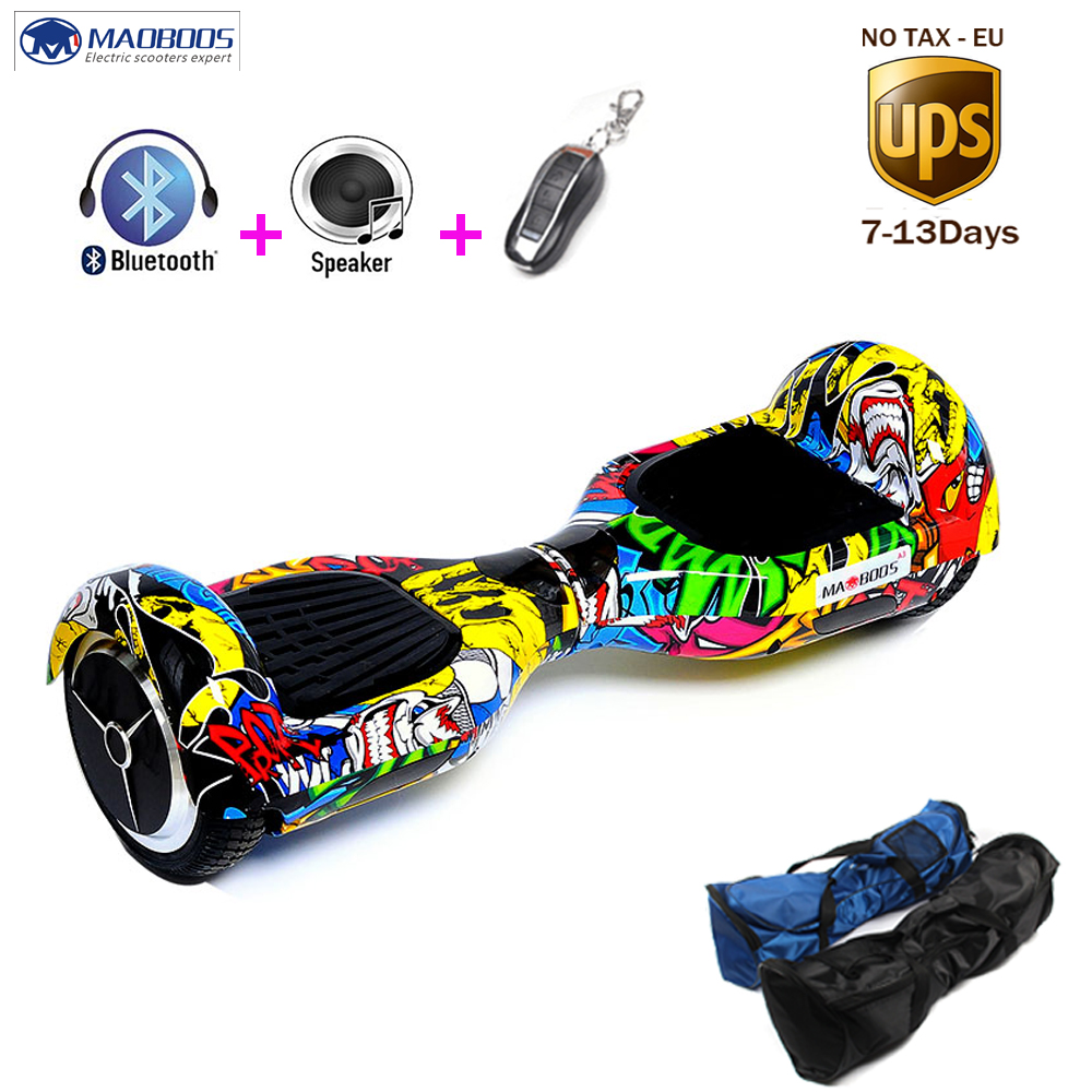 2 wheels 6.5 inch Hoverboard Electric Self Balancing Scooter   bluetooch remote Smart Skateboard Balance Board Samsung battery cn ge us warehouse smartmey 6 5inch electric self balancing scooter two wheels hoverboard gyroscopic smart skateboard