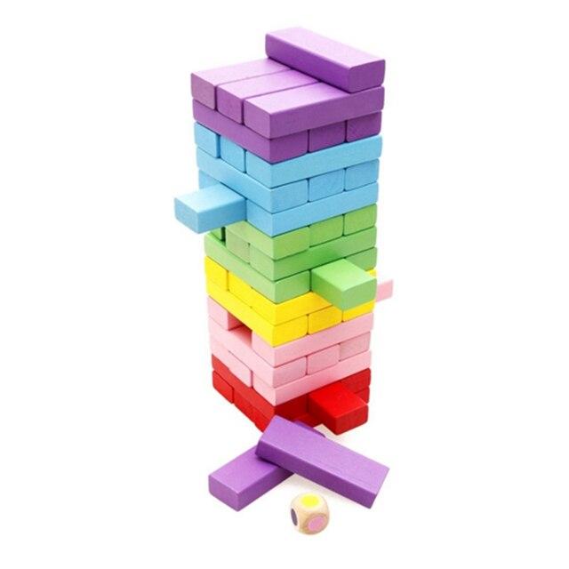 Nshine Juegos De Mesa De Madera Tumbling Torre Geometricas Union De