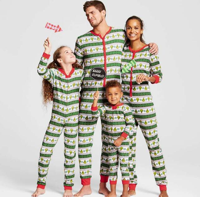 matching christmas pajamas family look mother and daughter son outfits nightwear father son clothes family matching