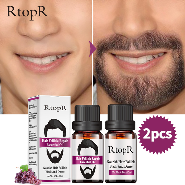 2PCS Hair Follicle Repair Oil Styling Moustache Moisturizing Oil Growth Of Beard Body Hair Eyebrow Care Smoothing Oil 10 ml 4