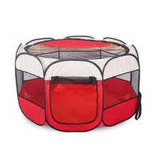 8-Sides Portable Pet dog Playpen Waterproof Foldable Dog House Cage Cat Tent Puppy Kennel Easy Operation Outdoor Supplies