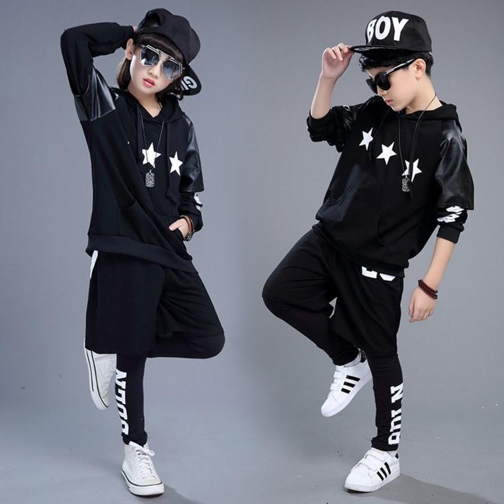 Kid Hip Hop Hoodies Clothing For Girls Boy Sweatshirt Leggings Pants Shorts Jazz Dance Costume Set Ballroom Dancing Clothes Wear