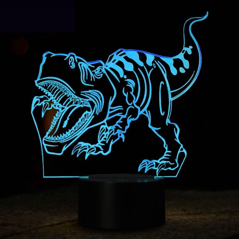 Luzes da Noite dinossauro 3d conduziu a lâmpada Tipo : Night Light