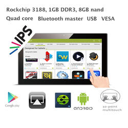 13,3-дюймовый Android 4 ядра все-в-одном ПК (ips 1600*900, RK3188, 1 ГБ Оперативная память 8 ГБ nand, Bluetooth, VESA, настенный кронштейн, RJ45 convertor)