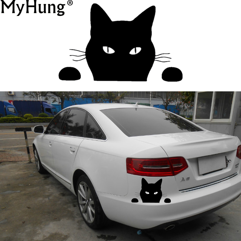 Detail feedback questions about car styling stickers black cat car sticker accessories for mazda cx5 for peugeot 206 307 for vw volkswagen golf tiguan 1 pc