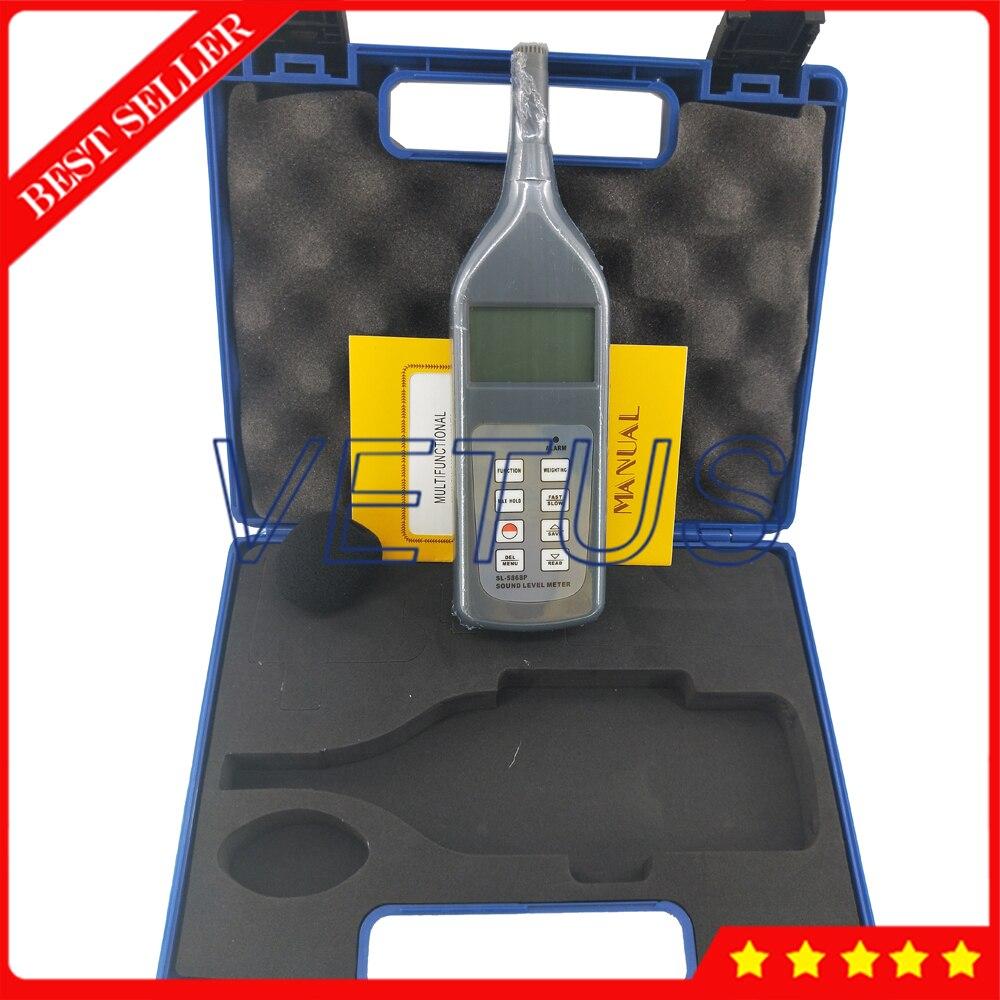 Testeur de sonomètre numérique SL-5868P testeur de sonomètre avec résolution 0.1dB 4 paramètres de mesure - 4