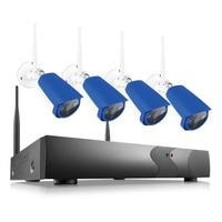 ANNKE 1080P 4CH Wireless NVR CCTV System Wifi 2 0MP IR Outdoor Bullet P2P IP Camera