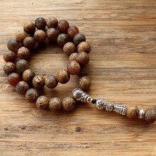 Neue 10mm Braun Leopardkorn 33 Gebetskette Islamischen Muslim Tasbih Allah Mohammed Rosenkranz für frauen männer