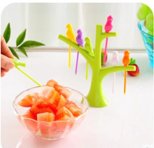 DIY party decorations fruit forks tree+birds/toothpicks,cooking tools,birthday wedding gift,kitchen tools children likes fruits