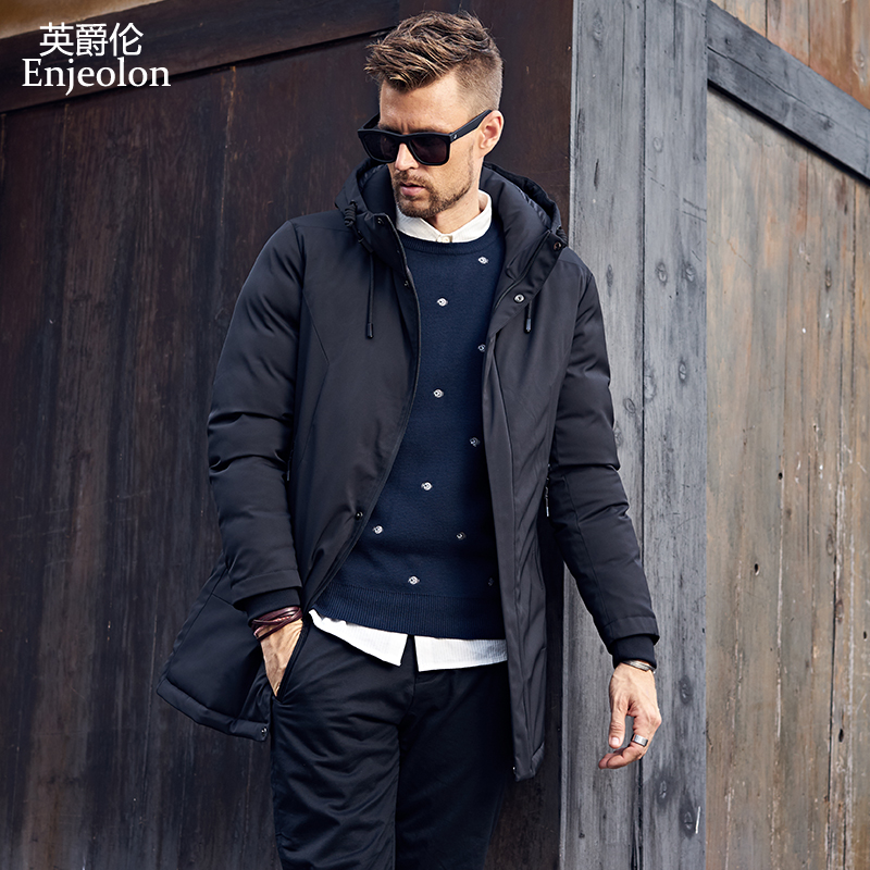 enjeolon бренд хлопок мягкий длинный куртка