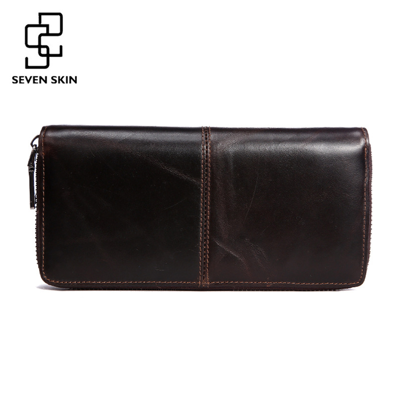 100% Genuine Leather Men Long Wallet Vintage Design Male Purse Mens Business Clutch Hand Bag Luxury Wallets Carteira Masculina 2016 sale special offer carteira feminina carteras mujer mens wallet men driving license genuine leather wallets purse clutch