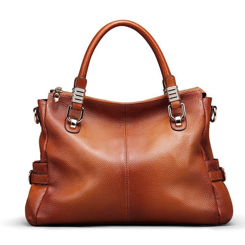 Vintage Handbags Women Messenger Bags Female Genuine Leather Tote Lady Top-handles Bag Zipper Crossbody Bags for Women 2016 2pcs set vintage handbags women messenger bag female purse solid shoulder office lady casual tote genuine leather top handle bag