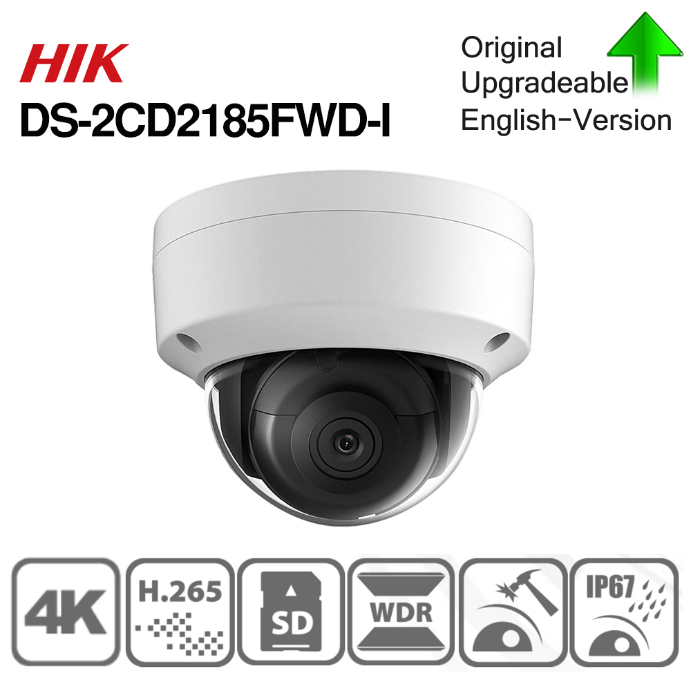Hikvision Original DS-2CD2185FWD-I 8MP CCTV Kamera Netzwerk Kamera H.265 Aktualisierbar Kamera Audio Alarm Interface