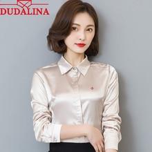 DUDALINA 2020 New Women Blouse Shirt Emb