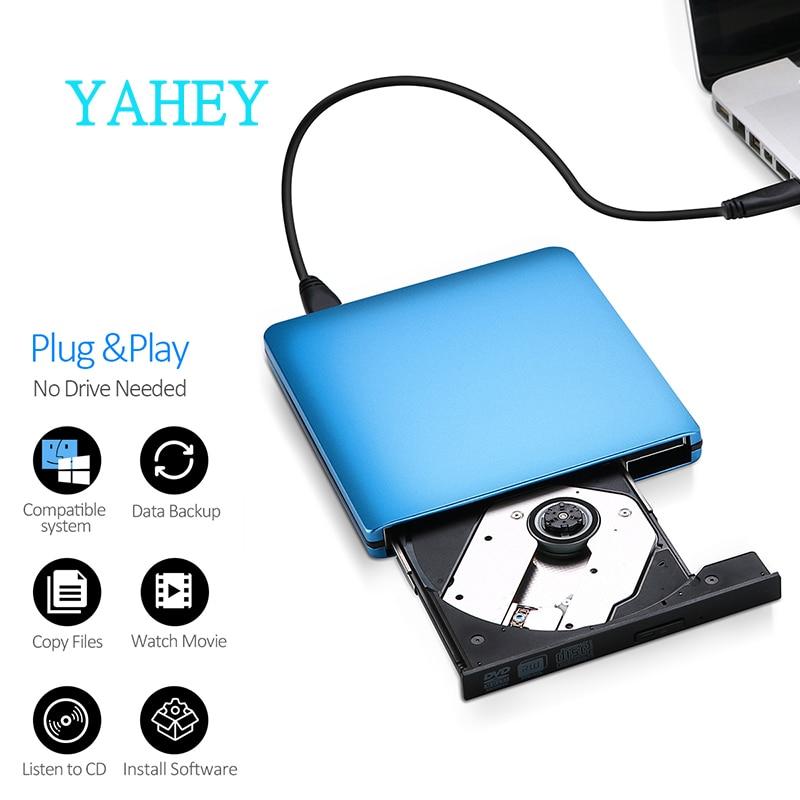 USB 3.0 DVD rakstītājs DVD ROM atskaņotājs Ārējie optiskie diskdziņi CD / DVD RW rakstītāju ierakstītāji Portatīvie diski klēpjdatoru datoram Mac pc