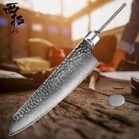 XITUO Chef knife 8inch knife blank Japan 67 layer Damascus steel sharp Utility santoku cut meat fish woodwork handicraft DIY now