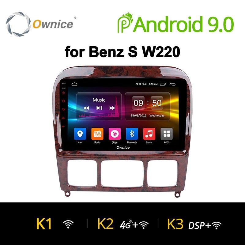 Ownice K1 K2 K3 Android 9.0 pour Mercedes/Benz/S280/S320/S350/S400/S500/W220/W215/C S classe 2din lecteur DVD de voiture Radio GPS stéréo