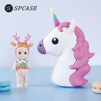 SPCASE 1600mAh Mini Unicorn Cartoon Emoji Shaped Power Bank For Iphone X Portable External Battery Charger
