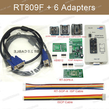 RT809F Set Universal EPROM FLASH VGA ISP AVR Programmer+6 Adapter Socket