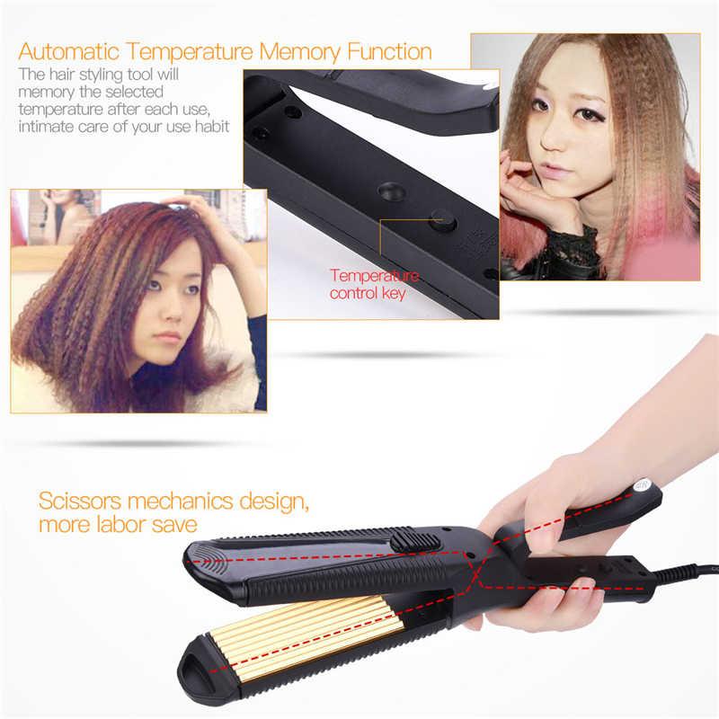 3 в 1 Многофункциональный выпрямитель для кудрявых волос гофрированного железа Сменные пластины быстрого восстановления волос бигуди щипцы ролики Curl S50