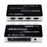 3x1 HDMI Switch 5x1 Switcher 2.0 4K 60Hz HDCP 2.2 HDR 5 3 In 1 Out Video Converter for Macbook PC Smart TV Mi Box PS4 Projector