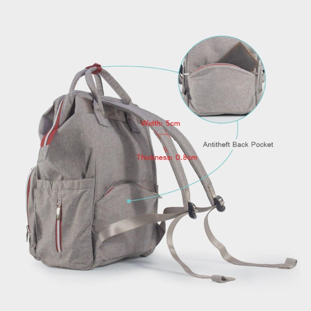 7ce8ae5630f JF Mummy μητρότητα τσάντα πάνα σακίδιο τσάντα μωρό μεταλλικό πλαίσιο ...