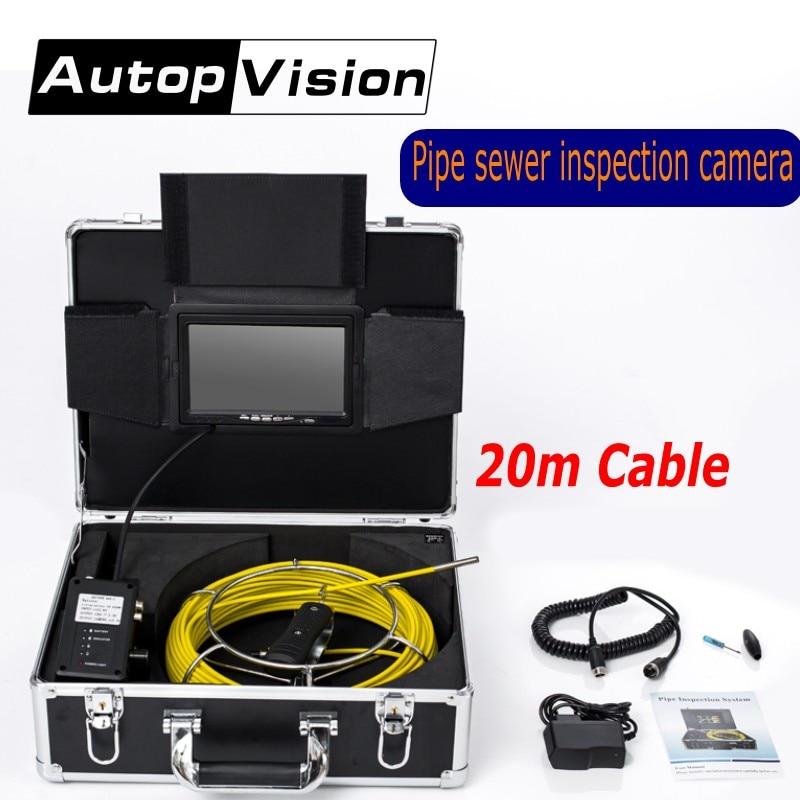 AP70 6.5/17/23mm Professionnel Tuyau De Vidange D'égout Caméra D'inspection 7 LCD 20 m câble Pipeline Endoscope Caméra Vidéo Sous-Marine