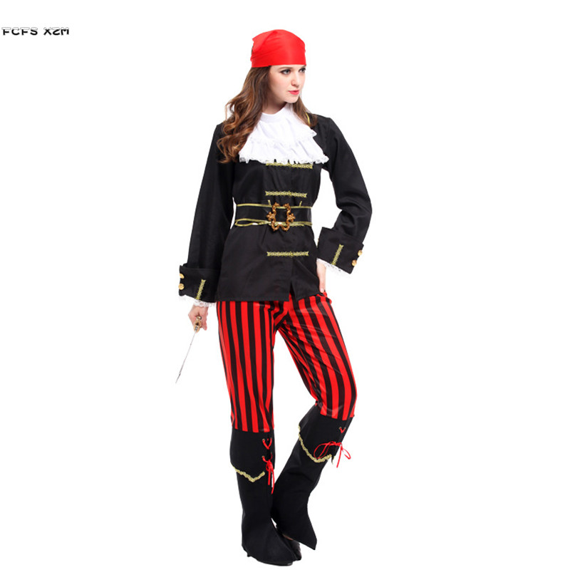 Halloween Pirate costumes for Women Female warrior corsair Cosplays Carnival Purim Masquerade masked ball Nightclub party dress