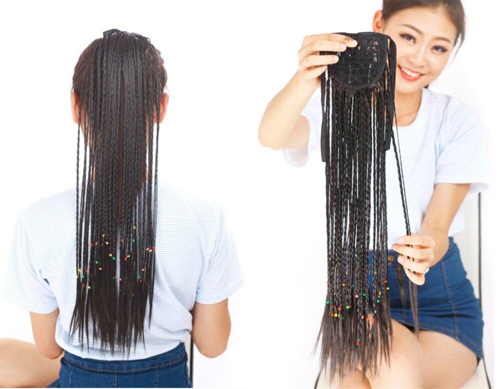 1pcs bohemia style braid pony tail