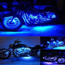 1Pair Waterproof Small LED Black DOME Motorcycle Chopper Bobber Turn Signal Lights Outdoor Lighting