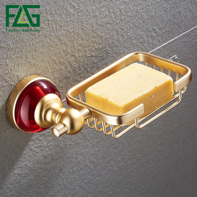 flg soap dishes wallmounted space aluminum red crystal u0026 glass soap dish gold bathroom