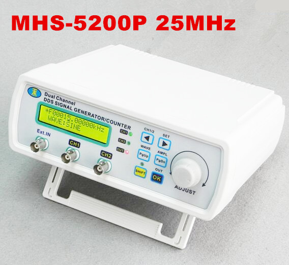 MHS-5200P 25MHz power dual-channel arbitrary waveform function NC signal generator DDS source 50% off mhs 5212p power high precision digital dual channel dds signal generator arbitrary waveform generator 6mhz amplifier 80khz