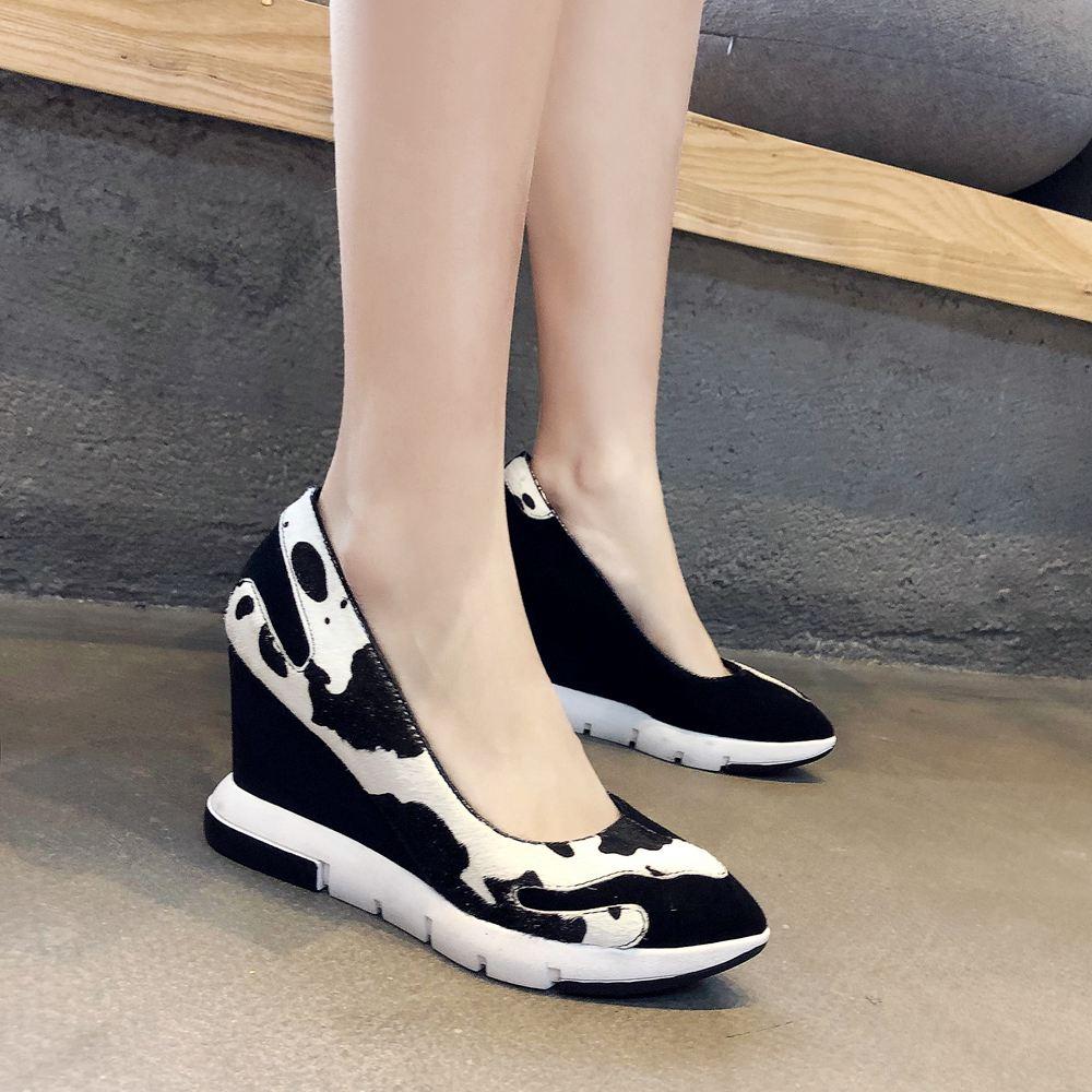 Haute Chaussures Discothèque Printemps Femmes Krazing L75 Sur 2019 Super Noir Pompes Matures Plate Mélangées Bout Lady Glissement Pot Bureau Pointu forme Couleurs qBqHSUWvt