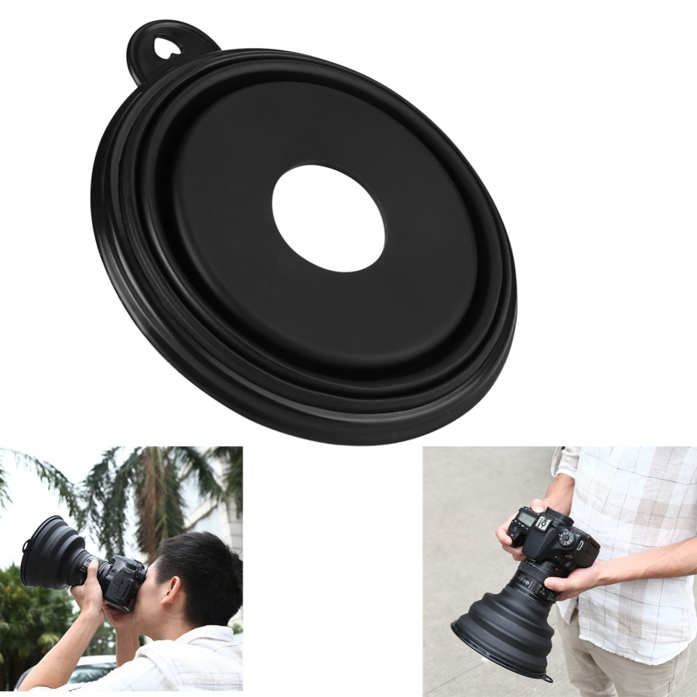 Ultimate Lens Hood Reflection-free Collapsible Silicone Lens Cover Anti-glass Lens Hood For Camera Mobile Phone Images Videos