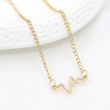 Gold Silver Chain ECG Heartbeat Bracelets Link Cuff Bangles Lightning Pendants Charm Adjustable Wristband Women Men Jewelry