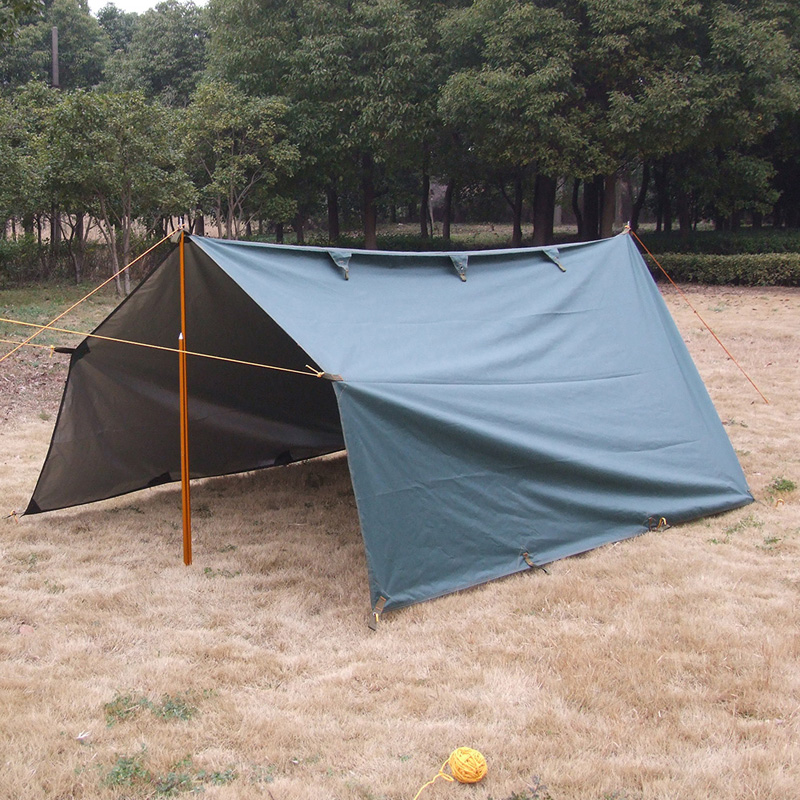 ФОТО Ultralight tarp  Anti UV Sun Shelter Camping mat Oxfords  Camping Tent Waterproof  Tarp Coated silver 3.2m*3m green factory sale