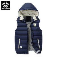New Men Jackets Sleeveless Vests Large Size L 3XL Winter Thick Warm Man Casual Fashion Vest