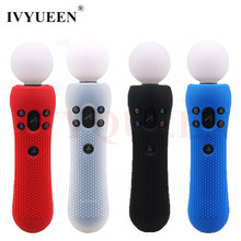 IVYUEEN 1 pcs Anti-slip Borracha De Silicone Caso Capa Protetora Da Pele para a Sony PlayStation PS Move Controlador de Movimento VR preto Azul(China)