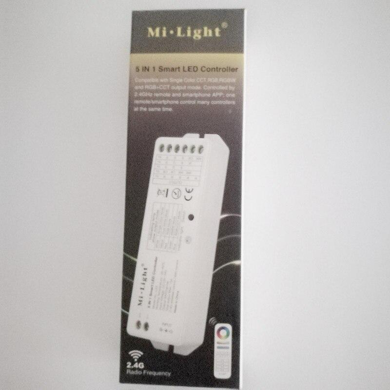 Cct Controller Für Led Streifen Licht Rgb-controller Professioneller Verkauf Milight Ls2 2,4g Wireless 5 In 1 Smart Led-controller Für Einzelne Farbe Cct Rgb Rgbw Rgbww Rgb