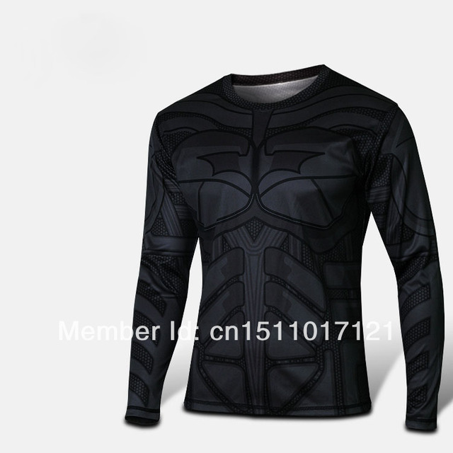 f57cff6ae Hot sale Batman Costume Dark knight Returns Cycling jersey Long Sleeves T-shirt  Breathable Quick Dry Bike Wear