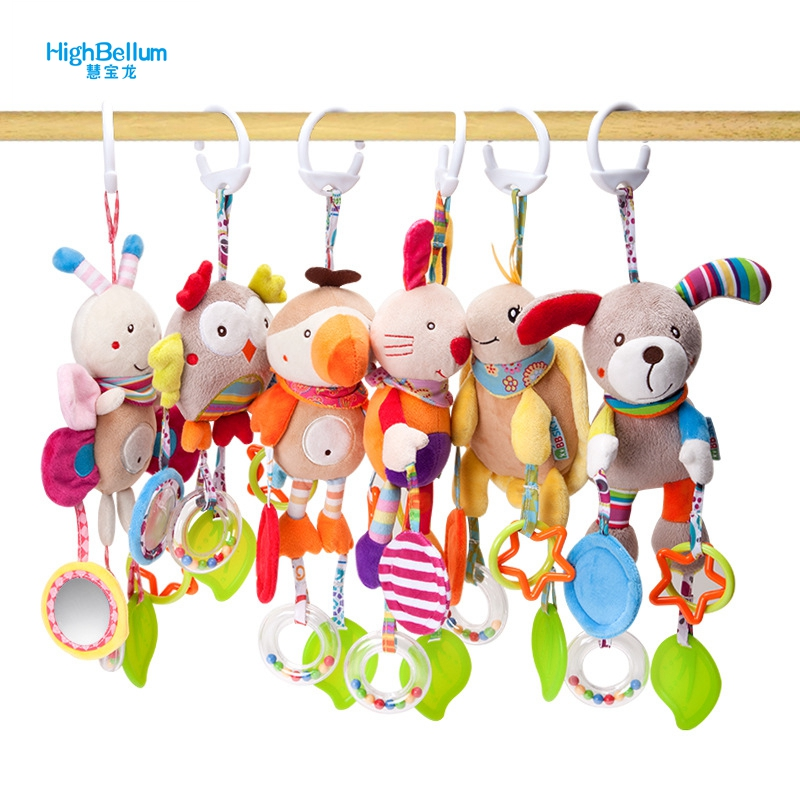 New Born Baby Stroller Toys Bell Bed Baby Stroller Hanging Bell Toys Educational Baby Rattle Toys
